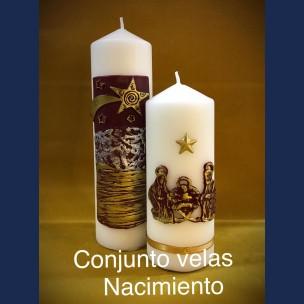 Conjunto Velas Navidad