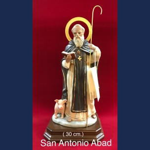 Imagen de San Antonio Abad de Porcelana(30cm).