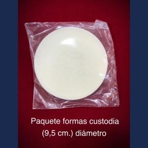 Paq. Formas de Custodia de 9,5 cm de Diametro.