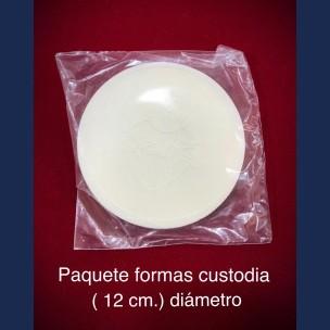 Paq. Formas de Custodia de 12 cm de Diametro.
