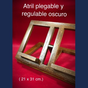 Atril Plegable y Regulable en Color Roble.