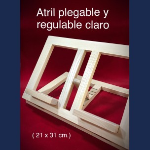 Atril Plegable y Regulable en Color Claro.