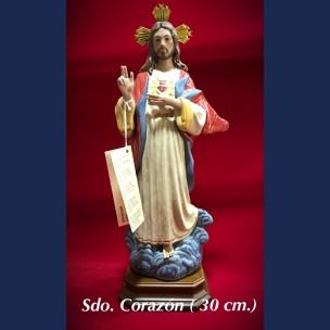Imagen Sagrado Corazon (30cm) de Porcelana.
