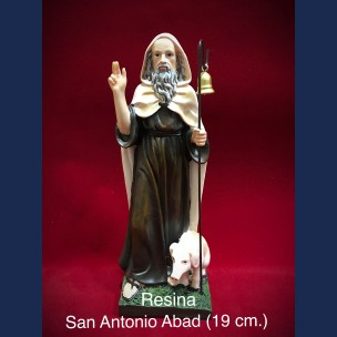 Imagen San Antonio Abad 19 cm Resina.