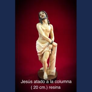 Imagen de Jesus Atado a la Columna 20 cm de resina