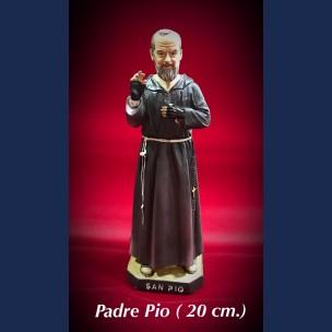 Imagen San Pio 20 cm de Resina
