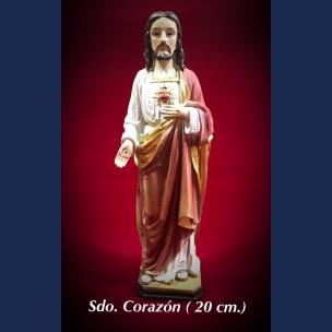 Imagen Sagrado Corazon 20 cm de Resina