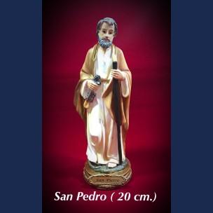 Imagen san Pedro 20 cm de Resina