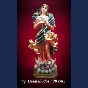 Imagen Virgen Desatanudos 20 cm de Resina