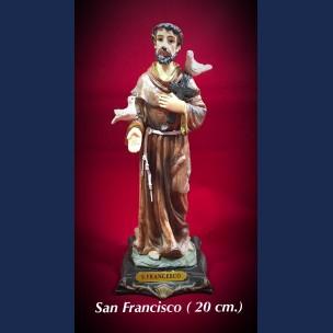 Imagen san Francisco 20 cm de Resina