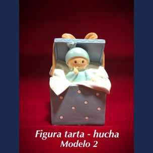 Figura Tarta - Hucha Modelo 2 en Azul.