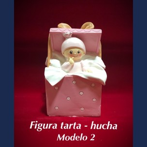 Figura Tarta - Hucha Modelo 2 en Rosa.